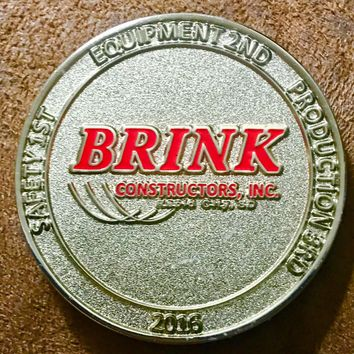 2016 Brink Constructors Commemorative Coin