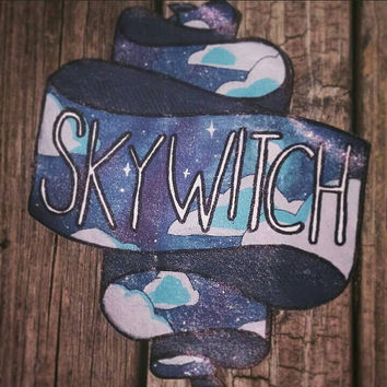 Sky Witch: Large Glitter Ribbon Punk Back Patch