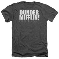 THE OFFICE/DUNDER MIFFLIN - ADULT HEATHER - CHARCOAL -