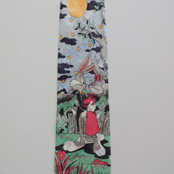 Vintage Bugs and Honey Bunny Romantic Necktie 1992