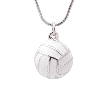 Jumping Strike Volleyball Necklace