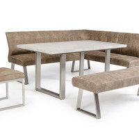 Modrest Monty Modern Stone Grey Extendable Dining Table