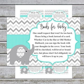 Bring a Book Instead of a Card | Book Request Baby Library Printable Girl Boy Baby Shower Invitation Insert Card (01-1n-t) Instant Download