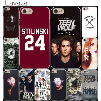 Lavaza Stilinski 24 Teen Wolf fashion Hard White Coque Shell Phone Case for Apple iPhone 8 7 6 6S Plus 5 5S SE 5C 4S X 10 Cove
