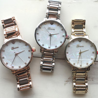 Mother of Pearl Dial Watch