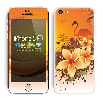 Orange Flamingo Abstract Skin For The iPhone 5c
