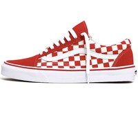 Old Skool Primary Check Sneakers Racing Red / White