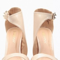 Liliana Nude Wrapped Patent Heels @ Cicihot Heel Shoes online store sales:Stiletto Heel Shoes,High Heel Pumps,Womens High Heel Shoes,Prom Shoes,Summer Shoes,Spring Shoes,Spool Heel,Womens Dress Shoes