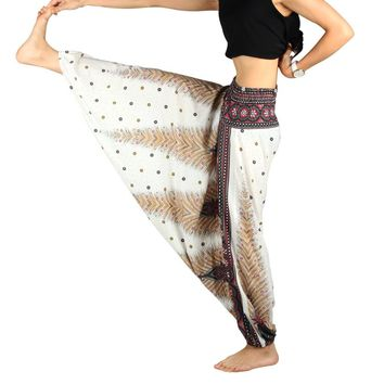 Yoga Pants Harem Pants Printed Women Plus Size Gym Clothes Dance Bloomers Fitness Pants High Waist Comfy Loose Indian Trousers