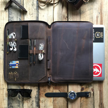 "LEATHER - PORTFOLIO MACBOOK 13"" DOCUMENT ORGANIZER (PRE-ORDER)"