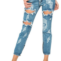 One Teaspoon || Trashed Freebirds jeans in Cobain