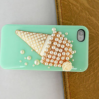 Ice cream Cartoon Style loves iphone case  iPhone case iPhone 4 case iPhone 4s case iPhone cover Multiple color choices