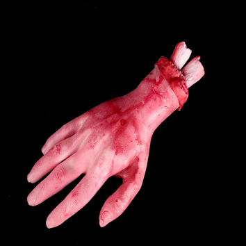 Funny Scary Broken Finger Hand Blood Horror Halloween Decoration Severed Bloody Simulate Hand Novelty Dead Broken Hand Gadgets
