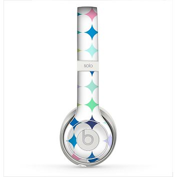 The Vibrant Fun Colored Pattern Hoops Inverted Polka Dot Skin for the Beats by Dre Solo 2 Headphones