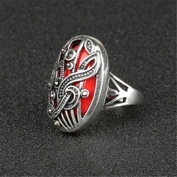 fashion casual women ring vintage handmade jewelry girls ring unique music note ring best christmas gift rings 52 2