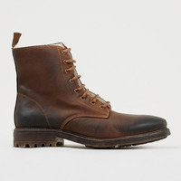 'Martial' Tan premium soft leather synthetic fur-lined boots