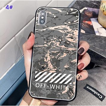 Off White Fashion New Letter Marble Print Phone Case Protective Cover 4#