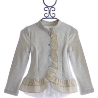 Joyfolie Designer Girls Ruffle Jacket Spencer