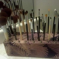 Custom Makeup Brush Holder | TheNewEve - Bath & Beauty on ArtFire