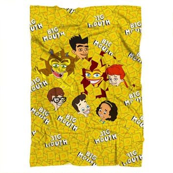 Big Mouth Collage Blanket