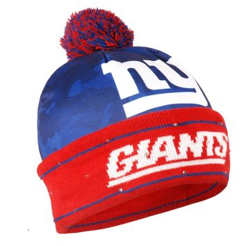 New York Giants Official NFL Camouflage Light Up Printed Beanie