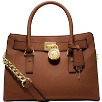 Michael Kors Hamilton East/West Saffiano Satchel (Luggage)