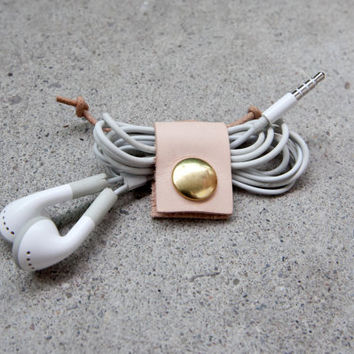 Leather Earbud Holder