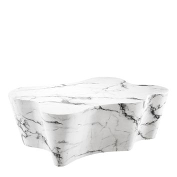 White Marble Coffee Table | Eichholtz Sceptre