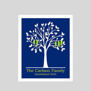 Family Tree Gift, Personalized Family Tree Print, Parents Anniversary Gift, Parents Gift, Grandparents Gift, Wall Art, CUSTOMIZE YOUR COLORS