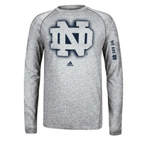 adidas Notre Dame Fighting Irish Sideline Elude Climalite T-Shirt - Ash