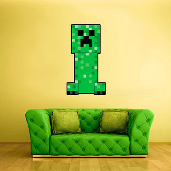 Full Color Wall Decal Vinyl Sticker Decor Art Bedroom Design Mural Like Paintings Minecraft Video Game Creeper (col433)