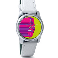 MNEK Face Digital Art Illustration Wrist Watch