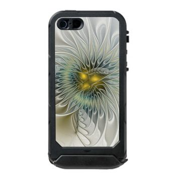 Golden Flower Fantasy, abstract Fractal Art Waterproof Case For iPhone SE/5/5s