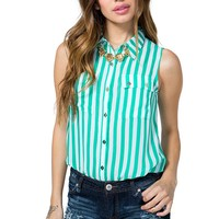 Favorite Stripe Sleeveless Shirt