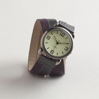 Purple Metallic Wrap Watch | World Market