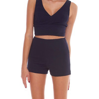 Spoiler Two Piece Shorts Set - Navy
