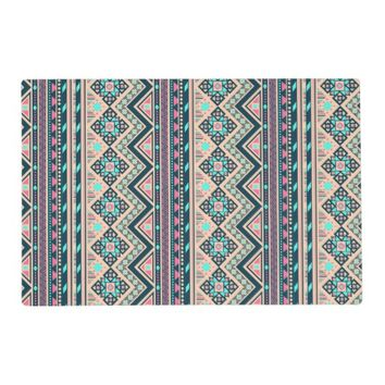 Colorful Abstract Aztec Tribal Pattern Placemat