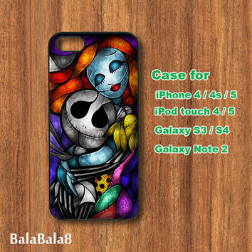 Jack and Sally, iPhone 4 case, iPhone 5 case, Blackberry Z10 ,Q10 case, iPod 4/ 5 case,  Samsung S3, samsung S4 case, Galaxy note 2