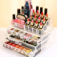 Cosmetics Organizer Clear.