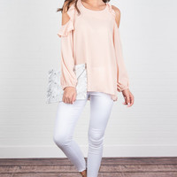 Open Your Heart Top, Blush