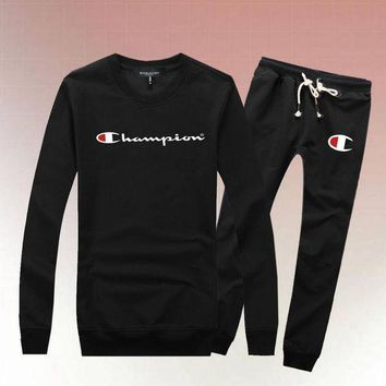 PEAP Champion Woman Men Long Sleeve Shirt Top Tee Pants Trousers Set Two-Piece Sportswear-1