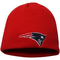 Men's New England Patriots New Era Red Solid Uncuffed Knit Beanie