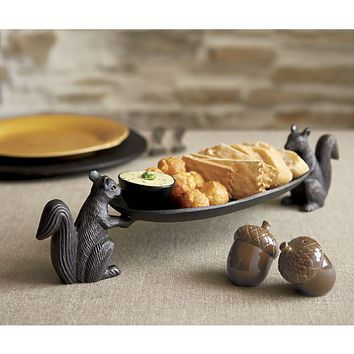 Squirrel Metal Serving Platter