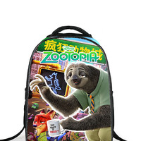 16 Inch Hot Zootopia Nick Judy Sloth School Bags Satchel Mochila 3D Cartoon Orthopedic Children Backpack For Boys Girls