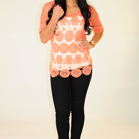 Hold Me Closer Top: Coral