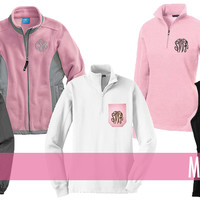 Monogrammed Jackets, Vests & Pullovers | Outerwear | Marley Lilly