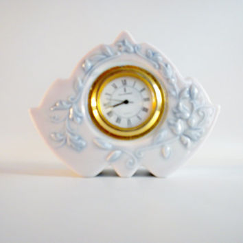 Lladro Marbella Clock Retired, Blue amd White Clock