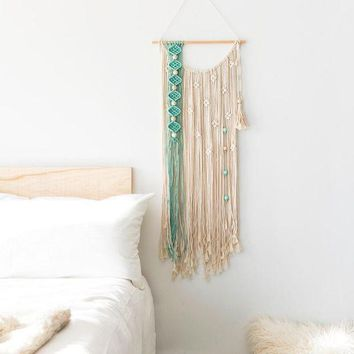 VONERE1 Nordic tapestry fringed hand-woven bohemian art tapestry diy wall hangings decorative art