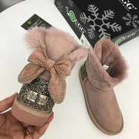 """Ugg ""Snow Boots winter Women fashion shoes/pink"