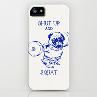 Pug Squat iPhone & iPod Case by Chalermphol Harnchakkham